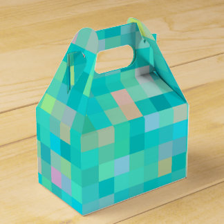 Pixel Art Multicolor Pattern Favour Box