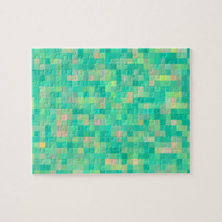 Pixel Art Multicolor Pattern Jigsaw Puzzle