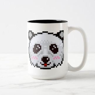 Pixel-Art Panda Two-Tone Coffee Mug