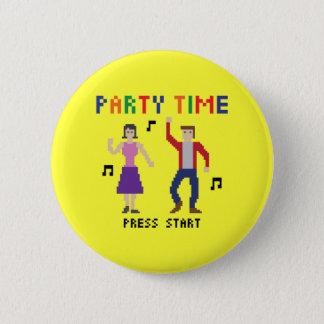 Pixel Art Party Time Button
