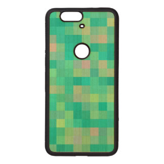 Pixel Art Pattern Wood Nexus 6P Case