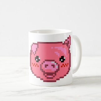 Pixel-Art Piggy Coffee Mug