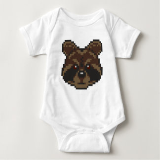 Pixel-Art Raccoon Baby Bodysuit