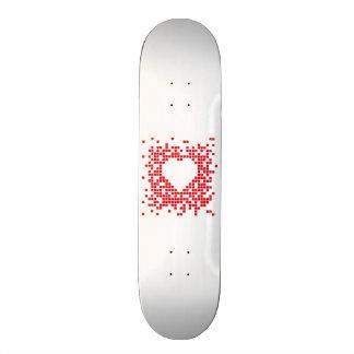 Pixel art red retro heart custom skate board