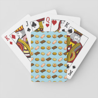 Pixel Art Tasty Biscuit Cookie Selection Pattern Playing Cards