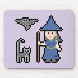 Pixel Art Witch Mousepad
