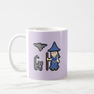 Pixel Art Witch Mug