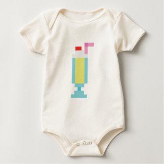 Pixel banana milkshake baby bodysuits