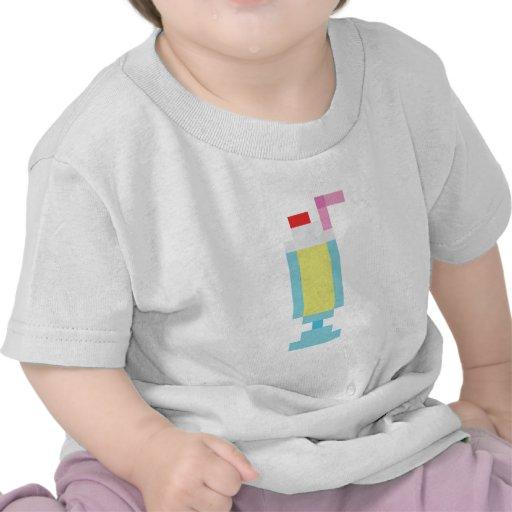 Pixel banana milkshake t shirts
