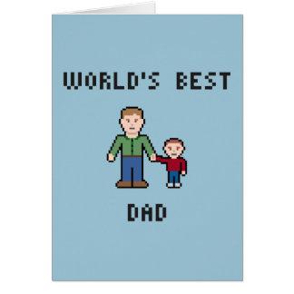 Pixel Best Dad Greeting Card