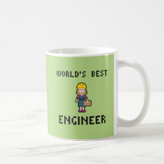 Pixel Best Female Engineer Coffee Mug