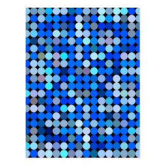 Pixel blue, Aqua Postcard