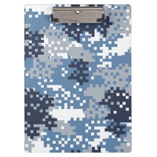 Pixel Blue Camouflage Clipboard