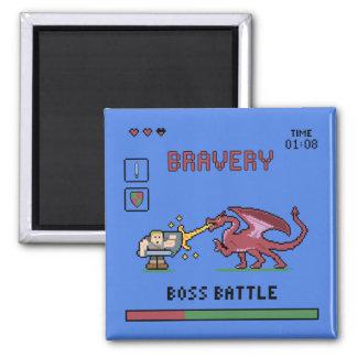 Pixel Boss Battle Magnet