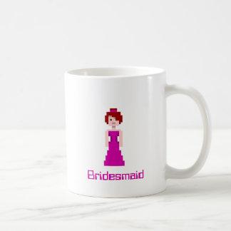 Pixel Bridesmaid - Berry Coffee Mugs