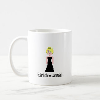 Pixel Bridesmaid - Black Coffee Mug