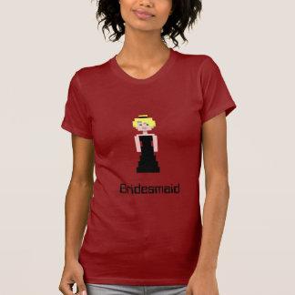 Pixel Bridesmaid - Black T-Shirt