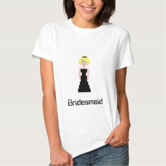Pixel Bridesmaid - Black Tshirt