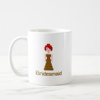 Pixel Bridesmaid - Brown Coffee Mug