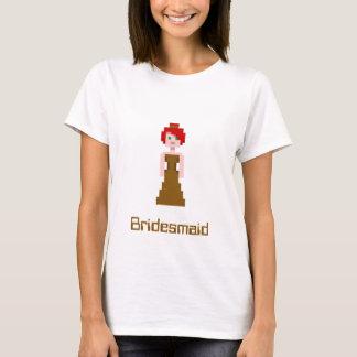 Pixel Bridesmaid - Brown T-Shirt