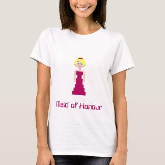 Pixel Bridesmaid - Maroon T-Shirt