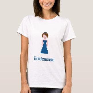 Pixel Bridesmaid - Navy T-Shirt