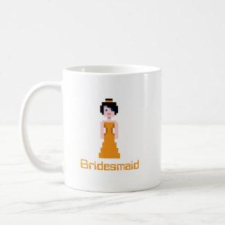 Pixel Bridesmaid - Orange Coffee Mug