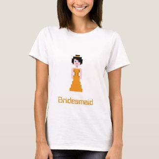 Pixel Bridesmaid - Orange T-Shirt