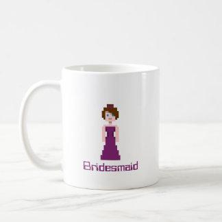 Pixel Bridesmaid - Plum Coffee Mug