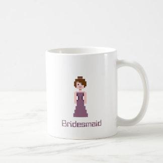 Pixel Bridesmaid - Purple with Brown Eyes Custom Basic White Mug