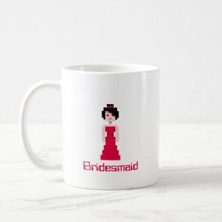 Pixel Bridesmaid - Red Mugs