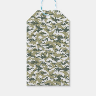 Pixel Camo Gift Tags
