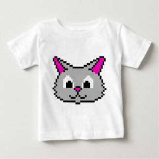Pixel Cat Head Baby T-Shirt