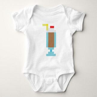 Pixel chocolate milkshake baby bodysuit