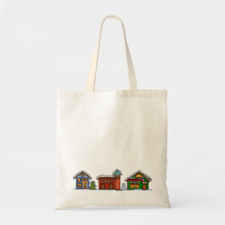 Pixel Christmas Village Bag