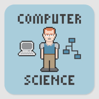 Pixel Computer Science Sticker