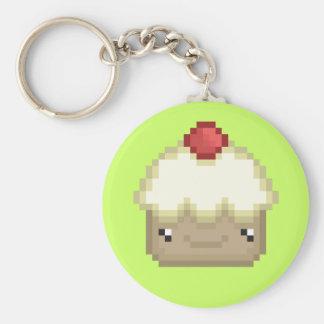 pixel cupcake keychain