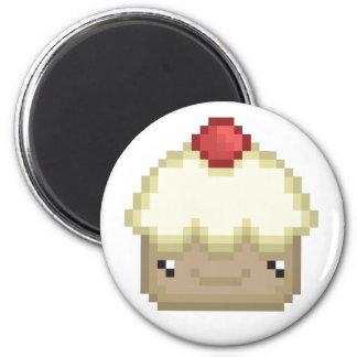 pixel cupcake magnet
