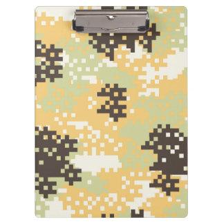Pixel Desert Camouflage Clipboard