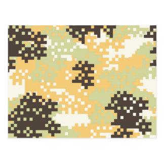 Pixel Desert Camouflage Postcard