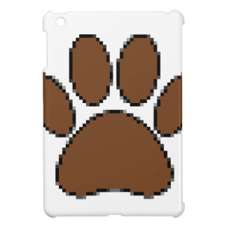 Pixel Dog Paw Print iPad Mini Case