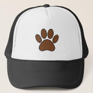 Pixel Dog Paw Print Trucker Hat
