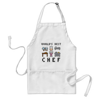 Pixel Female Chef Standard Apron