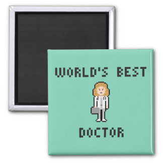 Pixel Female Doctor Magnet