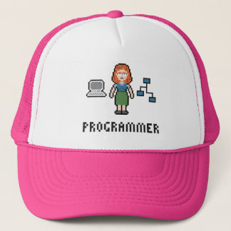 Pixel Female Programmer Hat