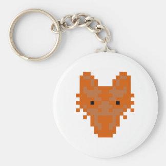 Pixel Fox Basic Round Button Key Ring
