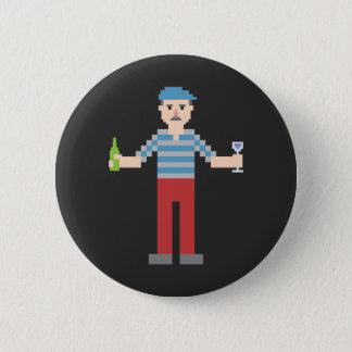 Pixel French 6 Cm Round Badge