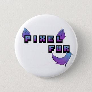 Pixel Fur Logo 6 Cm Round Badge