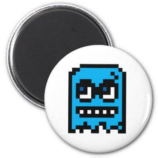 Pixel Ghost Fridge Magnets