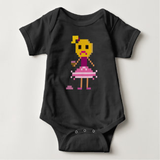 pixel girl baby bodysuit